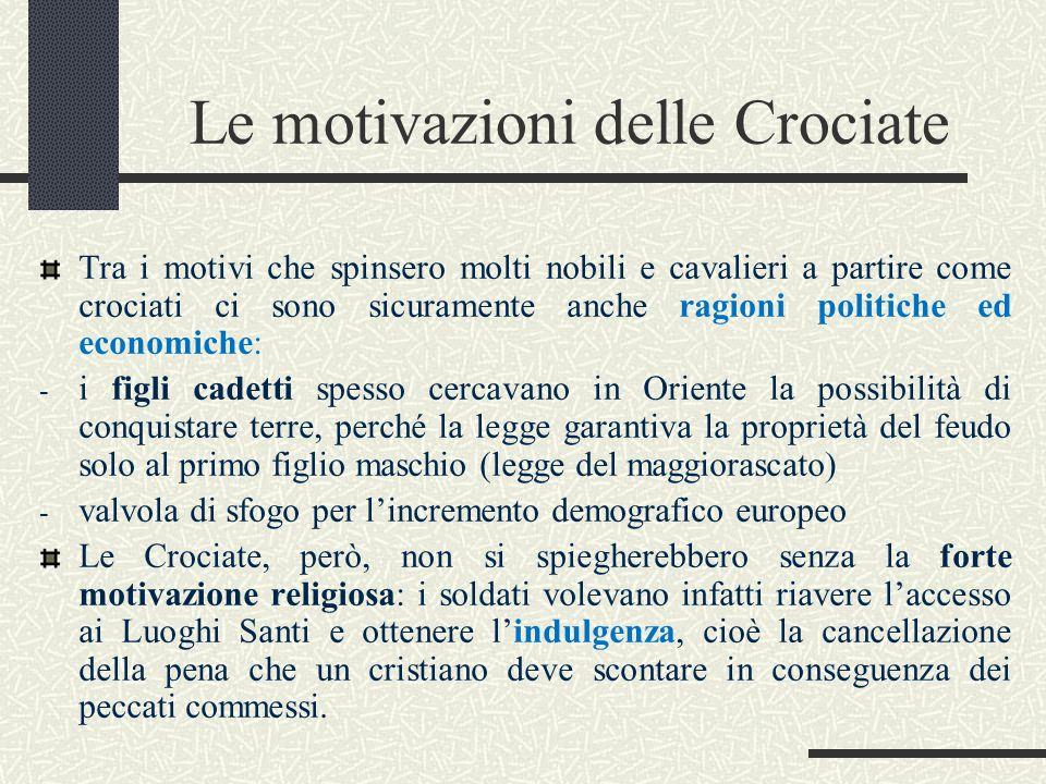 Le motivazioni delle Crociate