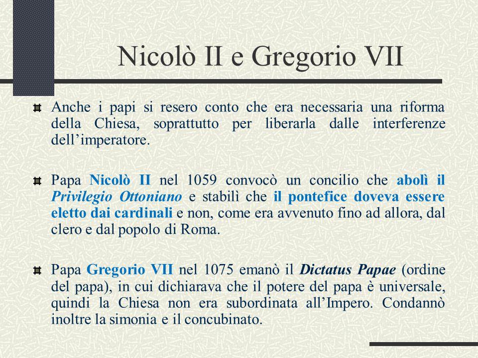 Nicolò II e Gregorio VII