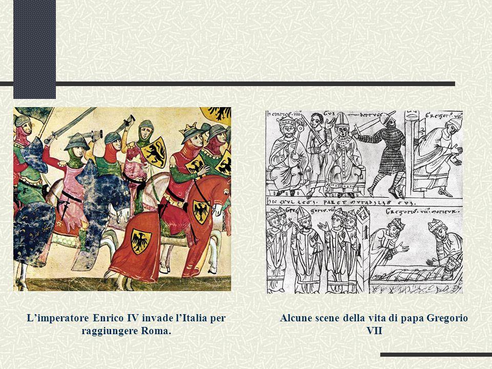 L'imperatore Enrico IV invade l'Italia per raggiungere Roma.