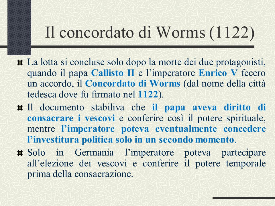Il concordato di Worms (1122)