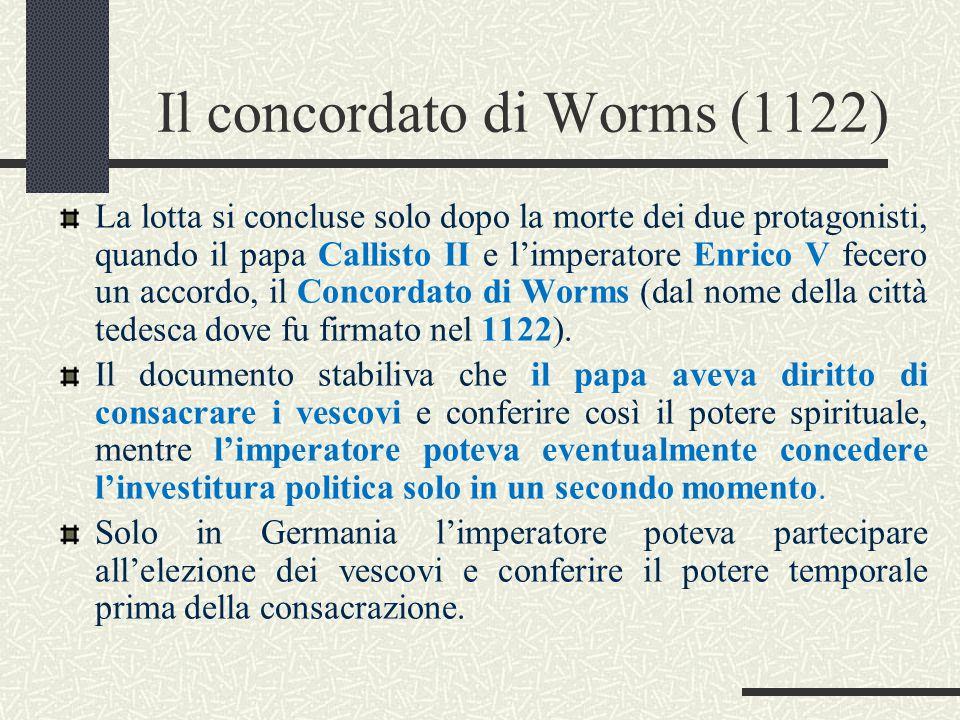 Il concordato di Worms (1122)