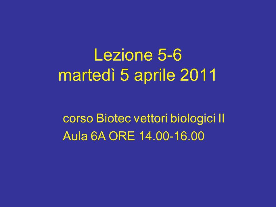 Lezione 5-6 martedì 5 aprile 2011