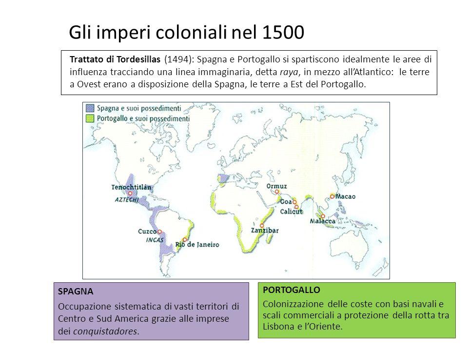 Gli imperi coloniali nel 1500
