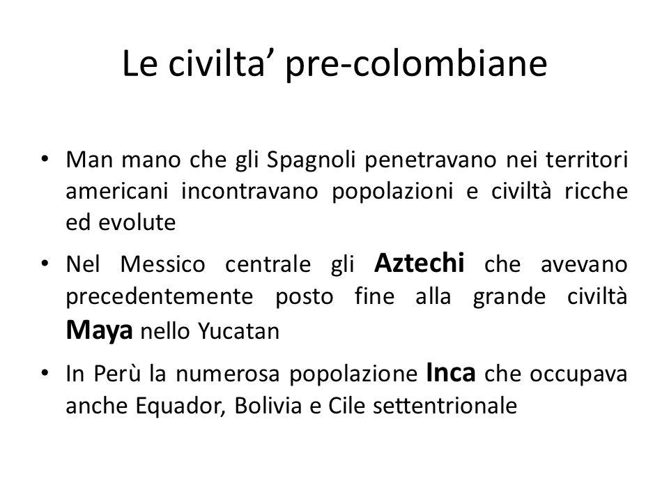 Le civilta' pre-colombiane