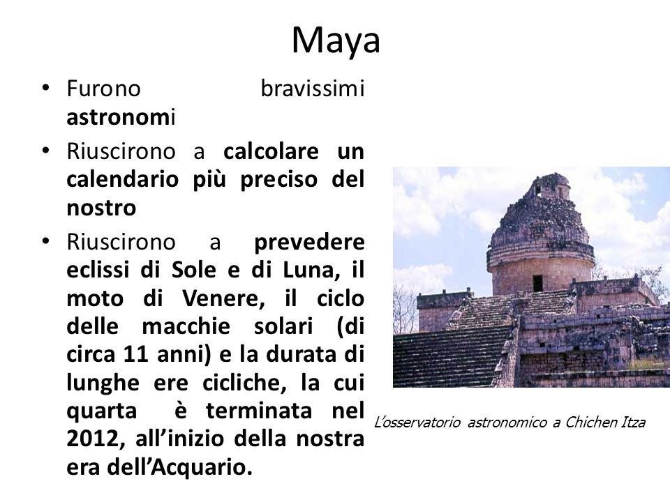 Maya Furono bravissimi astronomi