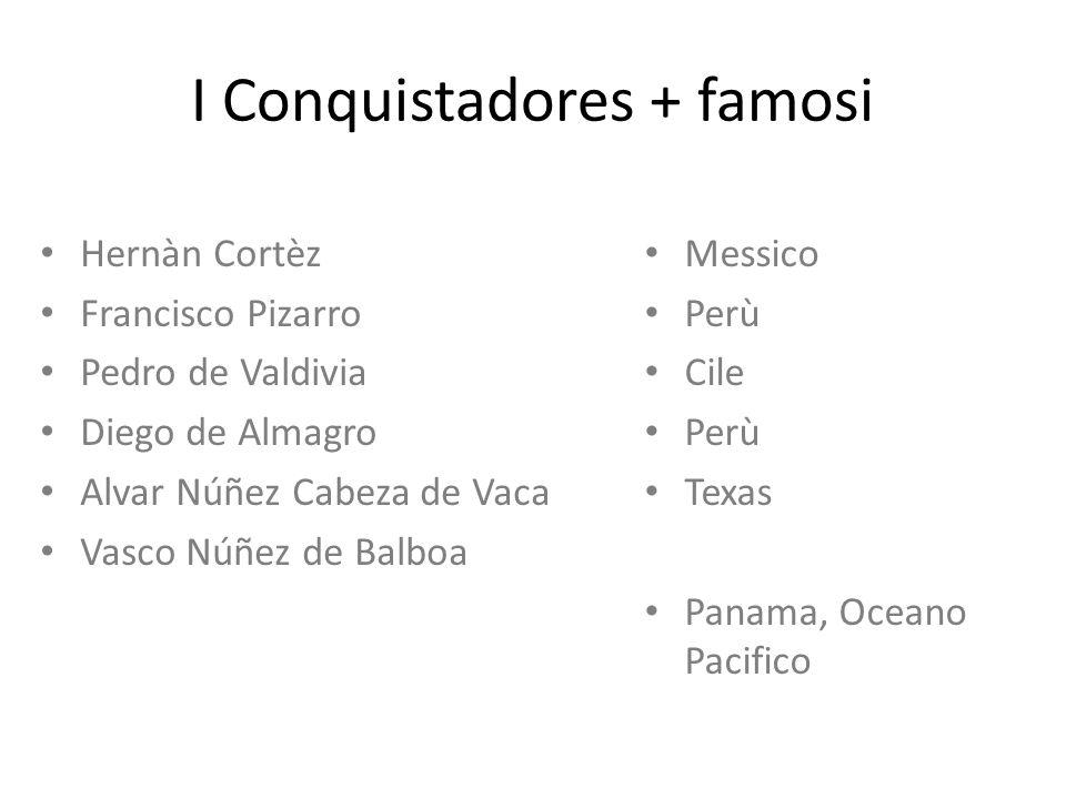 I Conquistadores + famosi