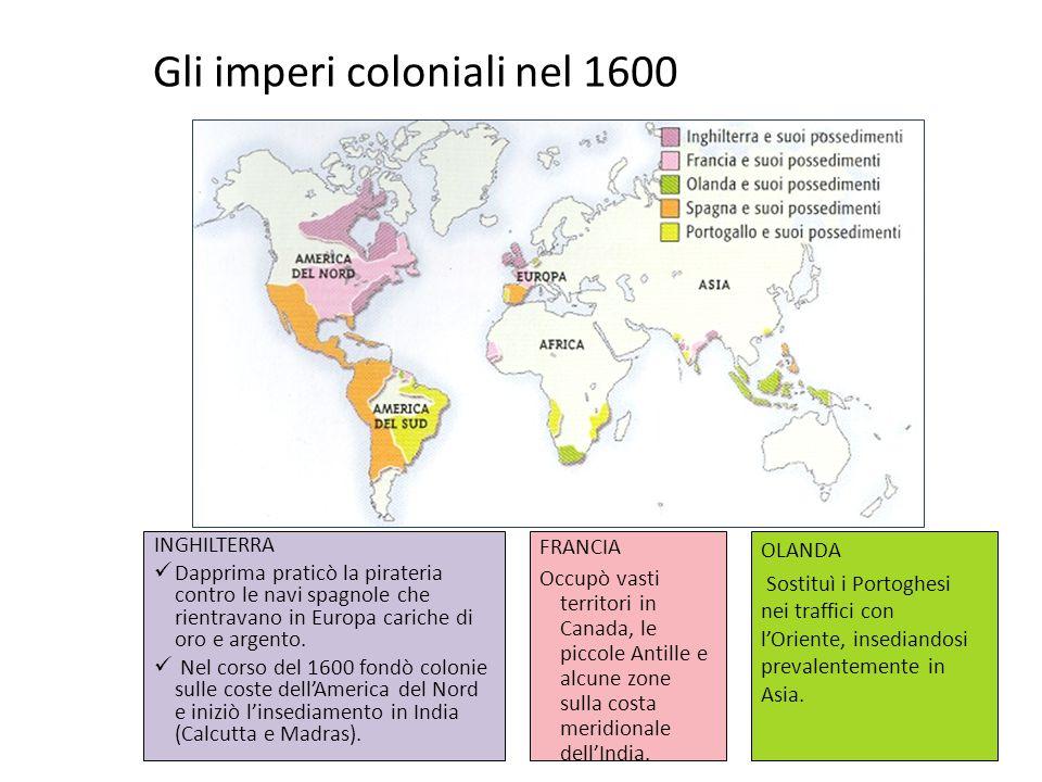 Gli imperi coloniali nel 1600