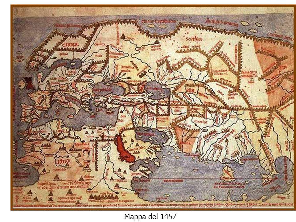 Mappa del XIV secolo Mappa del 1457