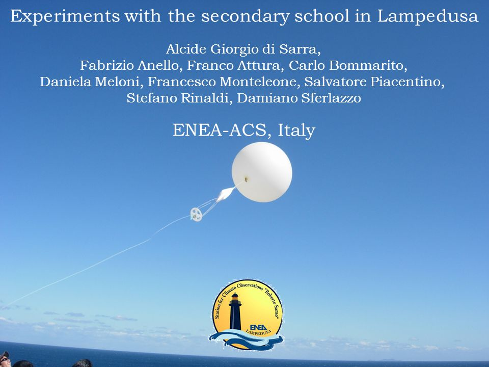 Experiments with the secondary school in Lampedusa