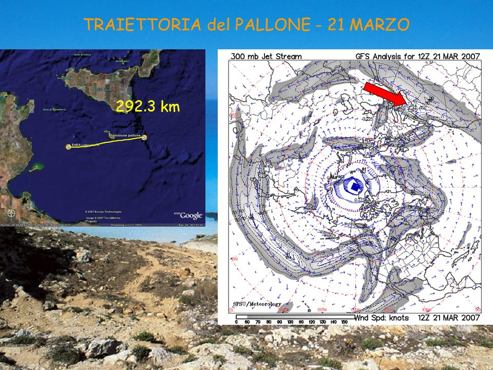 TRAIETTORIA del PALLONE - 21 MARZO