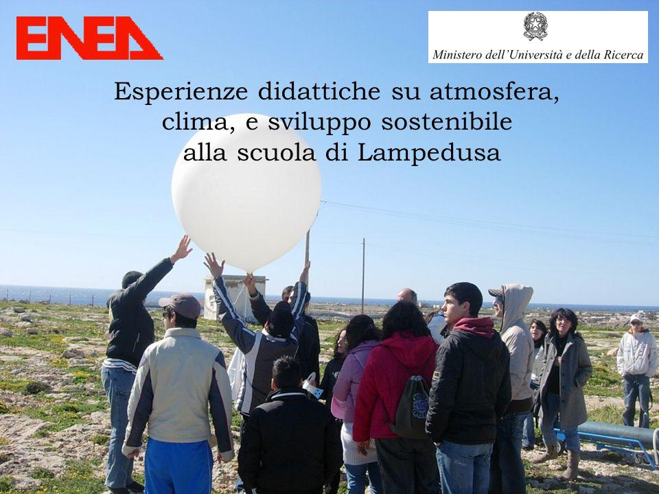 Esperienze didattiche su atmosfera, clima, e sviluppo sostenibile