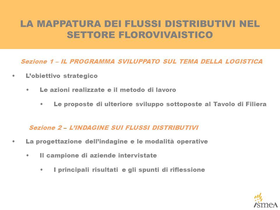 LA MAPPATURA DEI FLUSSI DISTRIBUTIVI NEL SETTORE FLOROVIVAISTICO