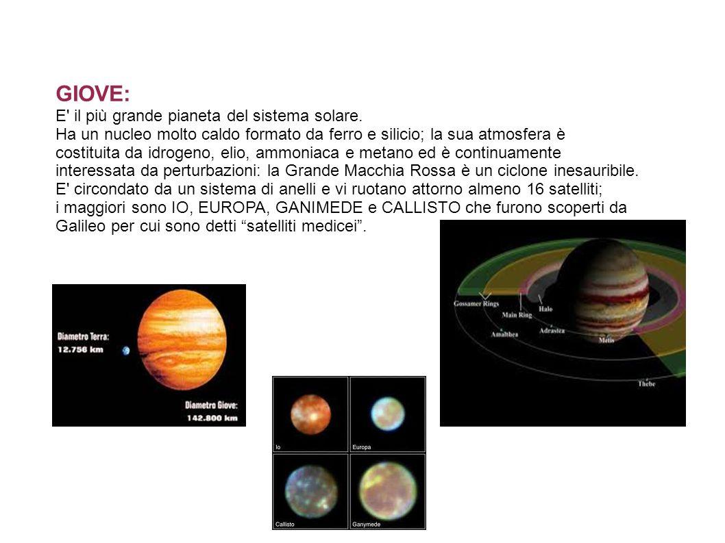 GIOVE: E il più grande pianeta del sistema solare.