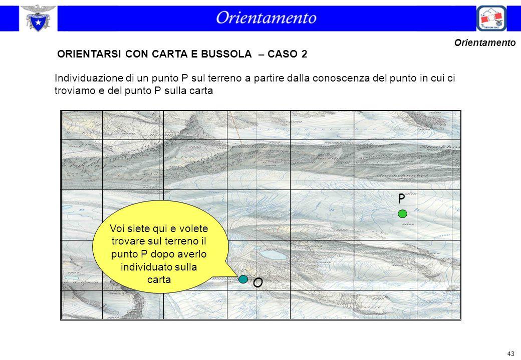  =73° O ORIENTARSI CON CARTA E BUSSOLA – CASO 2