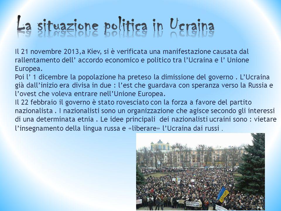 La situazione politica in Ucraina