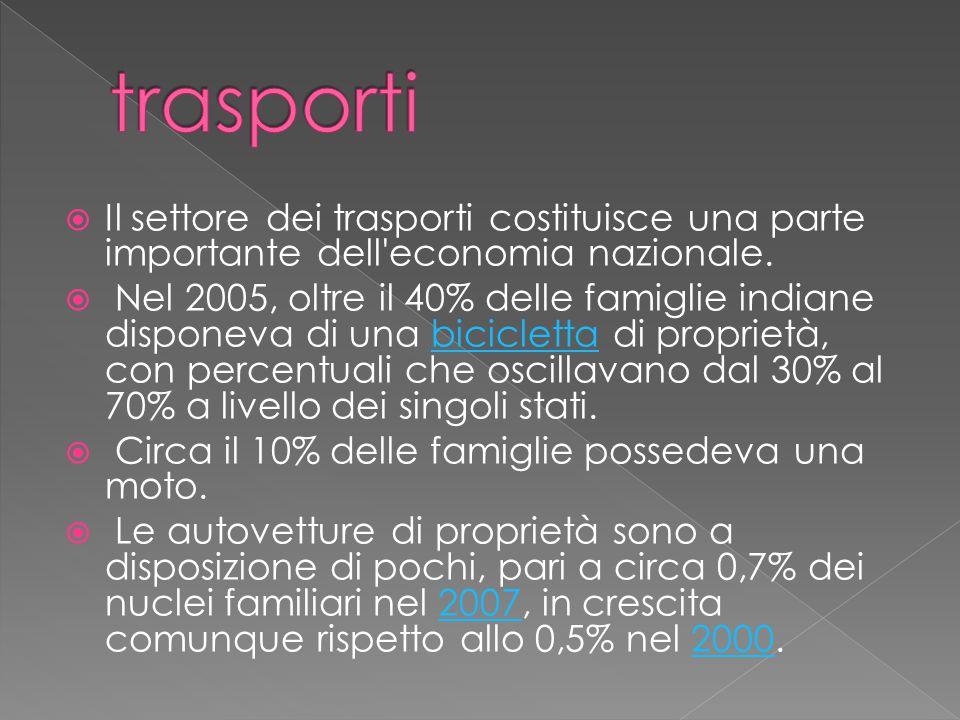 trasporti Il settore dei trasporti costituisce una parte importante dell economia nazionale.
