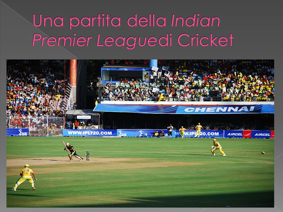 Una partita della Indian Premier Leaguedi Cricket
