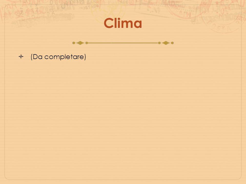 Clima (Da completare)