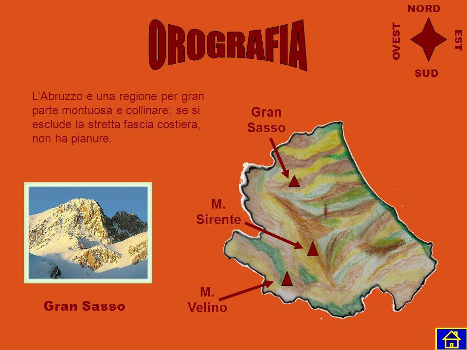 OROGRAFIA Gran Sasso M. Sirente M. Velino Gran Sasso