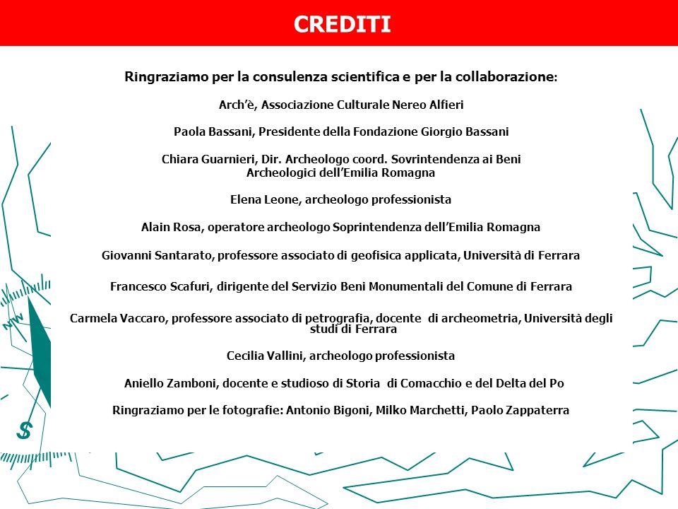 CREDITI Ringraziamo per la consulenza scientifica e per la collaborazione: Arch'è, Associazione Culturale Nereo Alfieri.