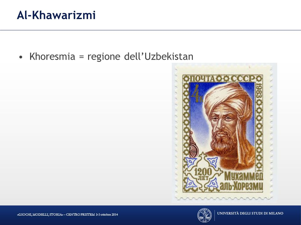 Al-Khawarizmi Khoresmia = regione dell'Uzbekistan