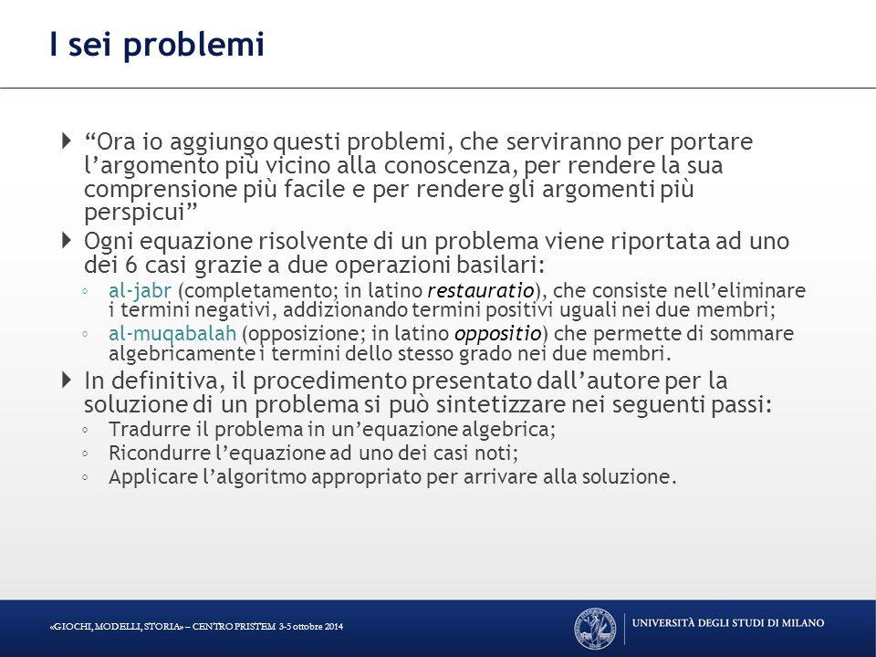 I sei problemi