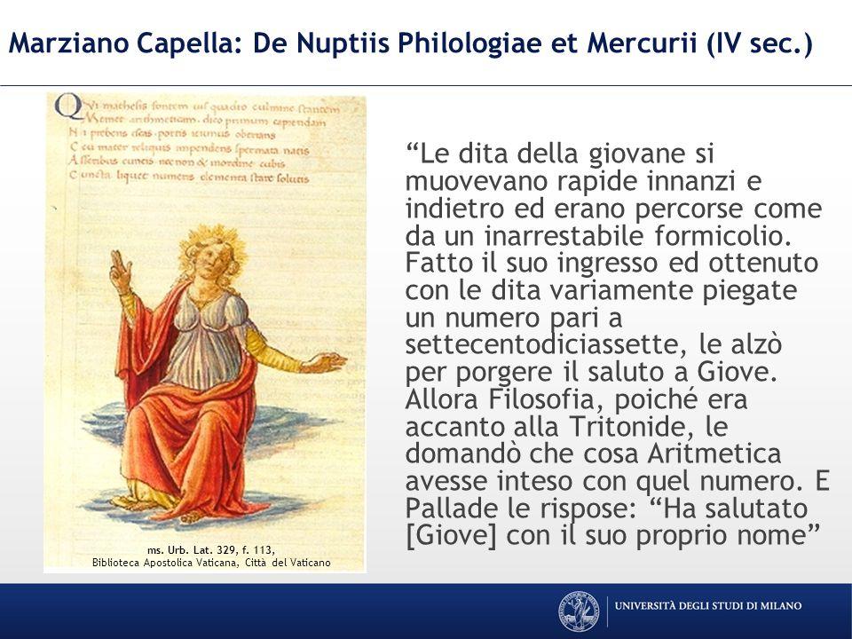 Marziano Capella: De Nuptiis Philologiae et Mercurii (IV sec.)