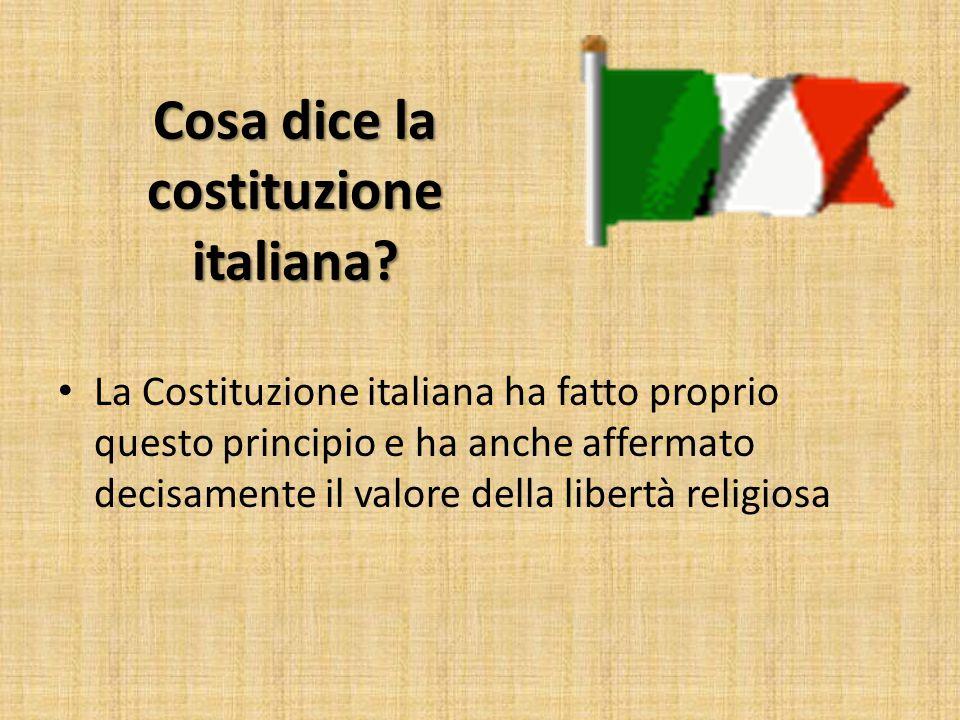 Cosa dice la costituzione italiana