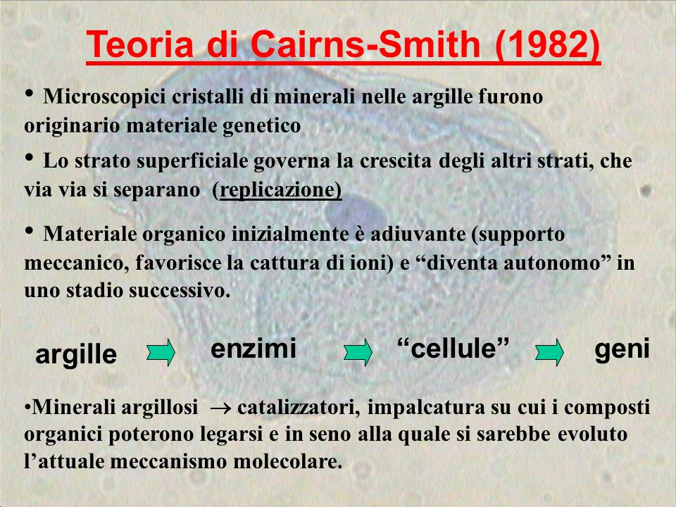 Teoria di Cairns-Smith (1982)
