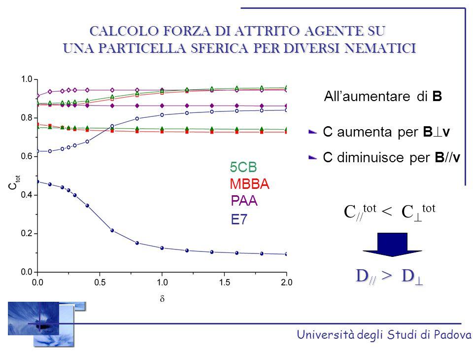 C//tot < C^tot D// > D^ CALCOLO FORZA DI ATTRITO AGENTE SU