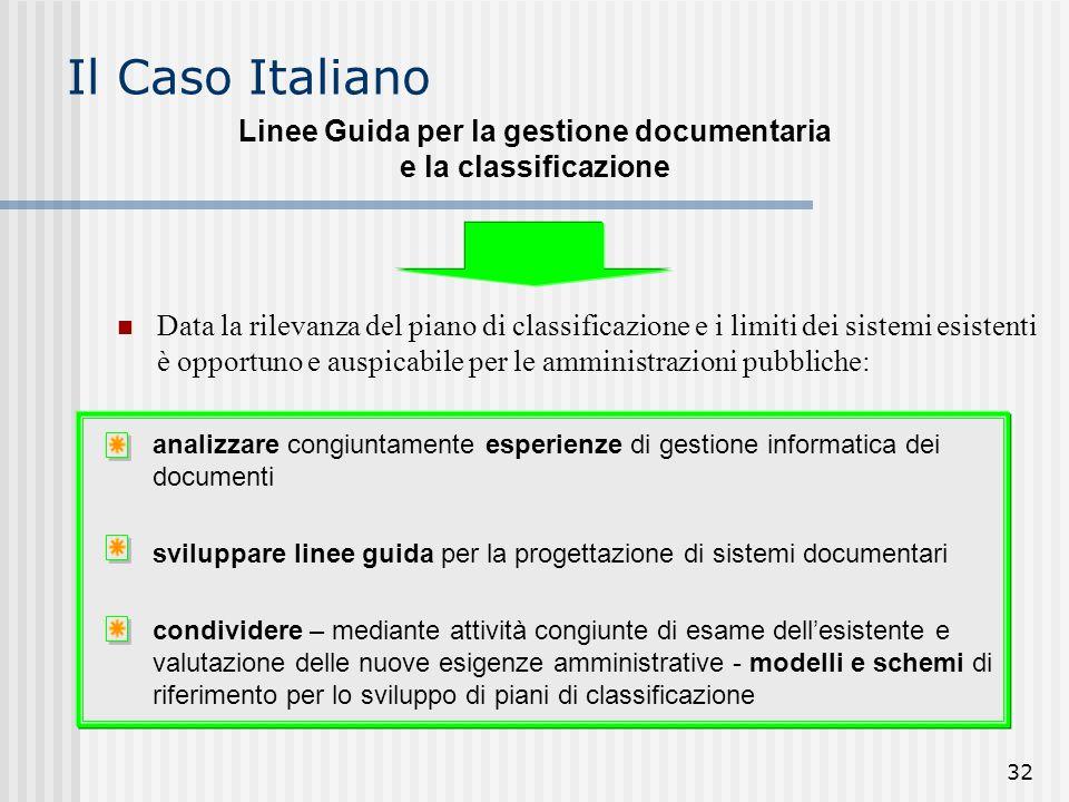 Linee Guida per la gestione documentaria e la classificazione