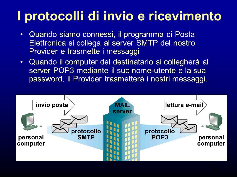 I protocolli di invio e ricevimento