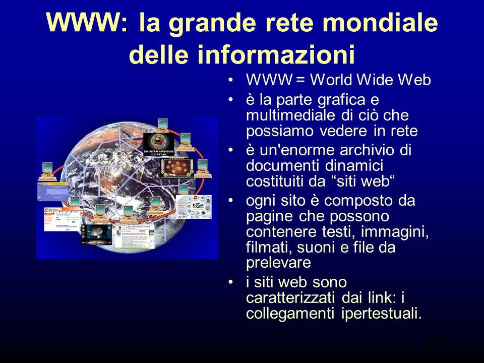 WWW: la grande rete mondiale delle informazioni