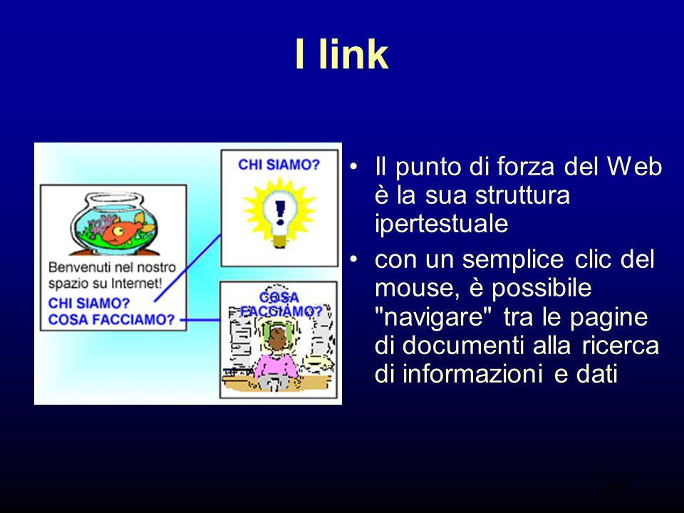 I link Il punto di forza del Web è la sua struttura ipertestuale