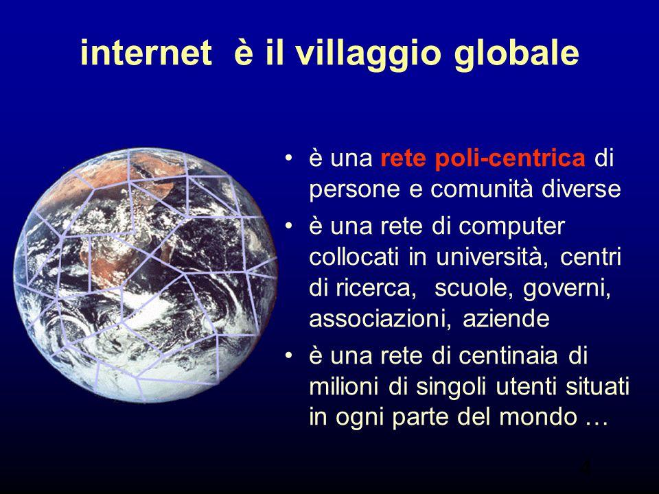 internet è il villaggio globale
