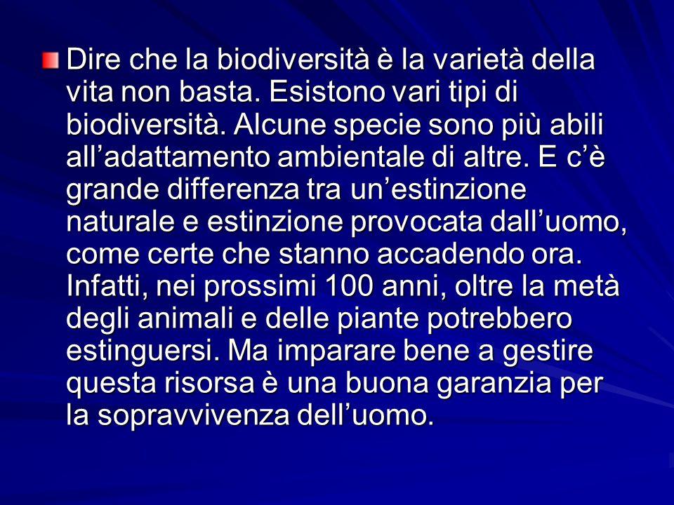 Dire che la biodiversità è la varietà della vita non basta