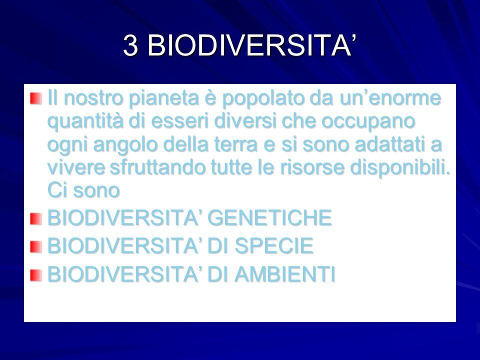 3 BIODIVERSITA'