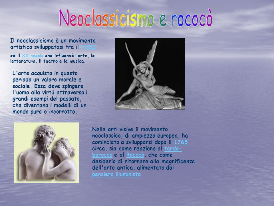 Neoclassicismo e rococò