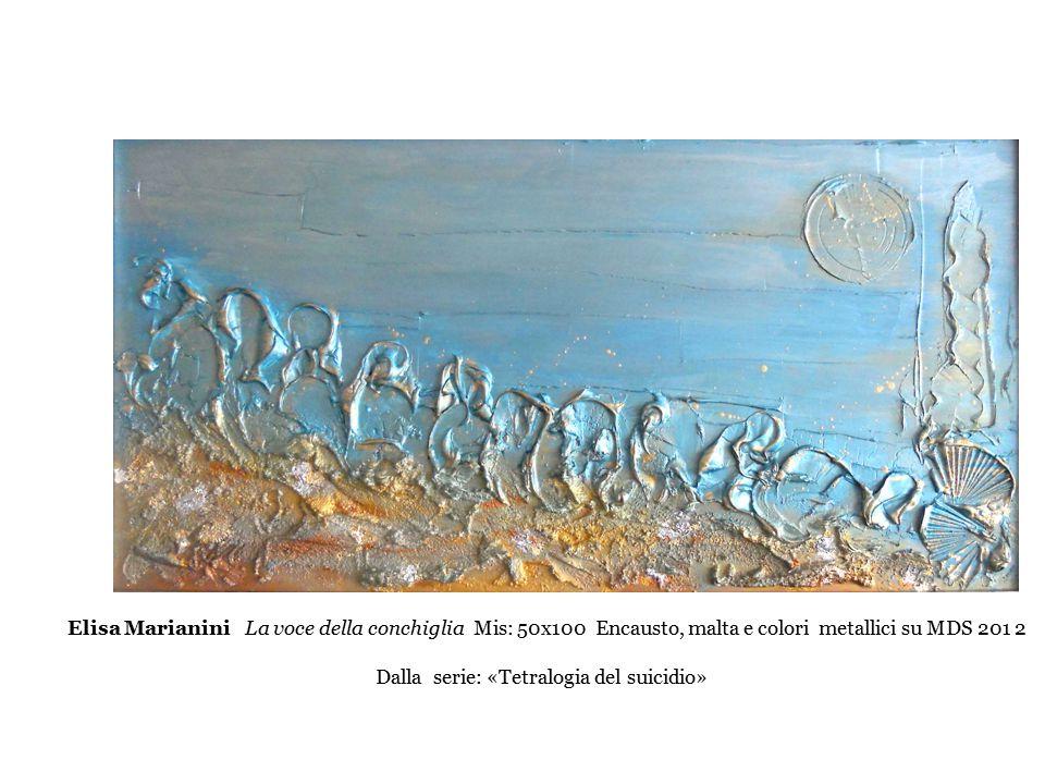 Elisa Marianini La voce della conchiglia Mis: 50x100 Encausto, malta e colori metallici su MDS 201 2