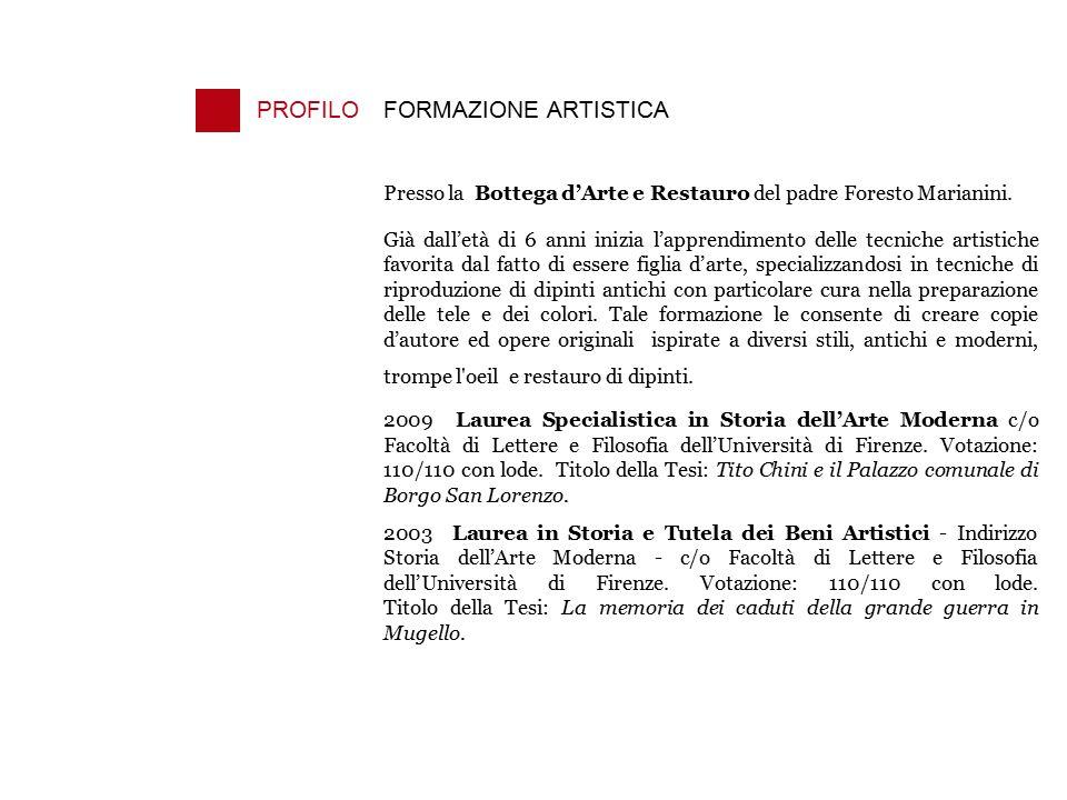 PROFILO FORMAZIONE ARTISTICA