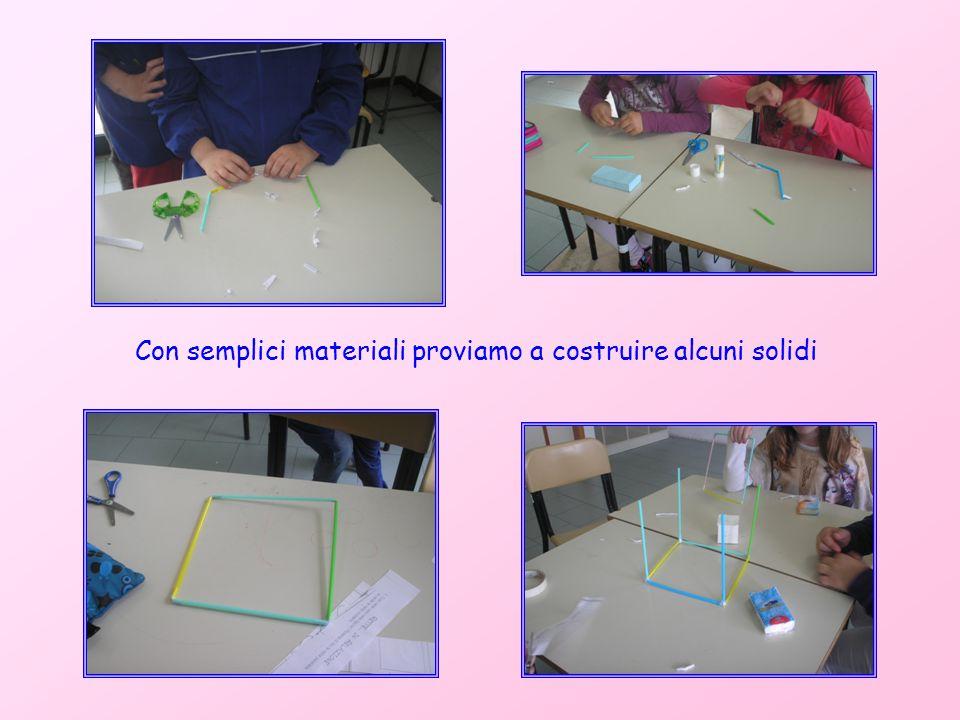 Con semplici materiali proviamo a costruire alcuni solidi