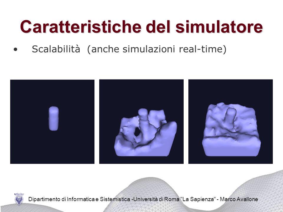 Caratteristiche del simulatore