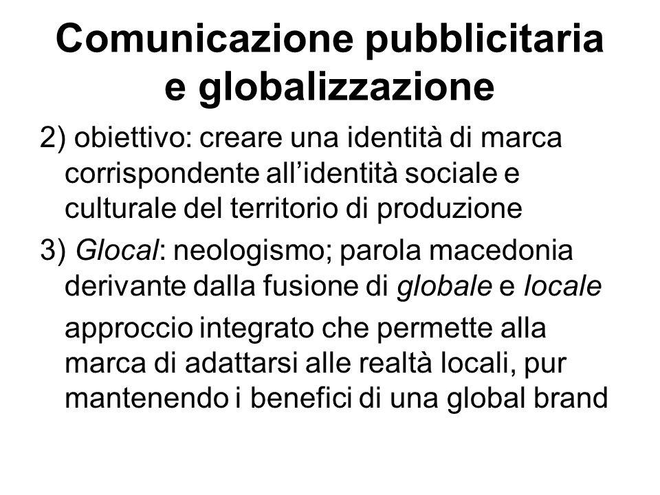Comunicazione pubblicitaria e globalizzazione
