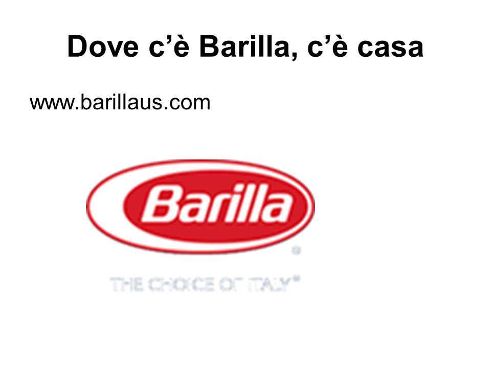 Dove c'è Barilla, c'è casa