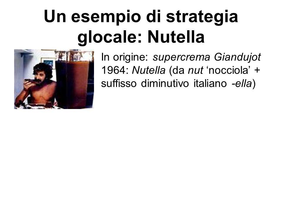 Un esempio di strategia glocale: Nutella