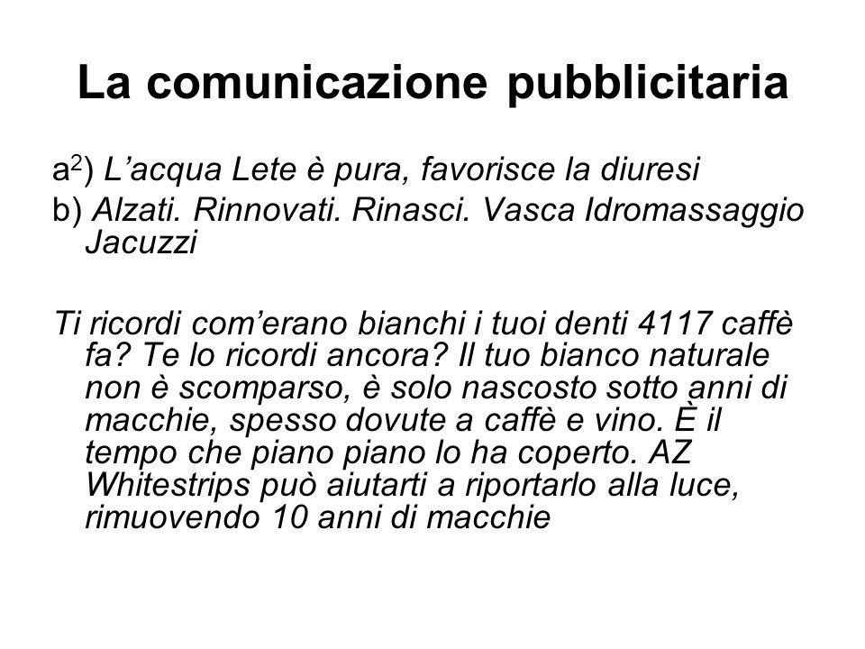 La comunicazione pubblicitaria