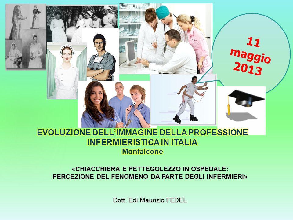 EVOLUZIONE DELL'IMMAGINE DELLA PROFESSIONE INFERMIERISTICA IN ITALIA