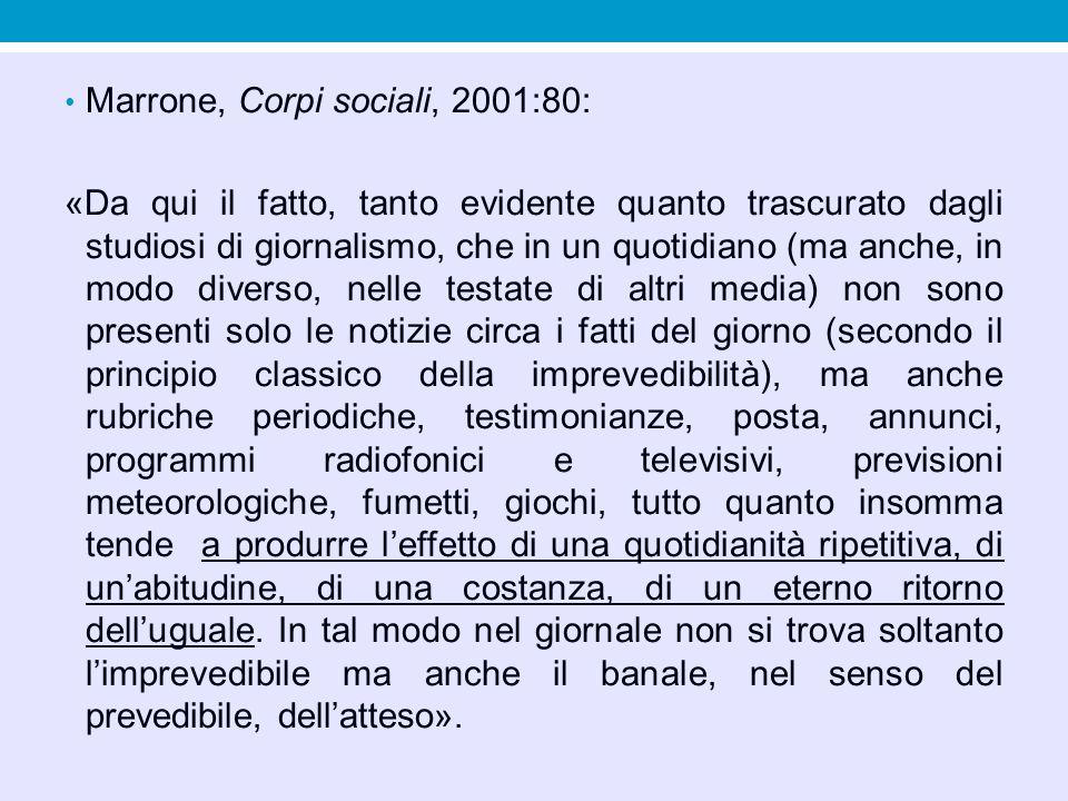 Marrone, Corpi sociali, 2001:80: