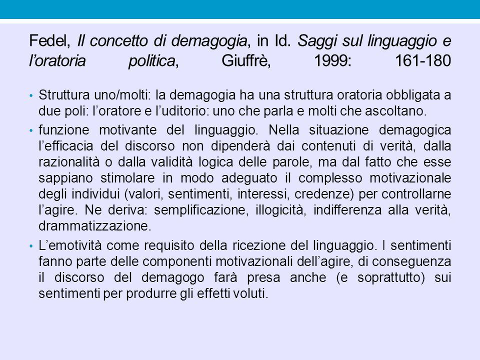 Fedel, Il concetto di demagogia, in Id