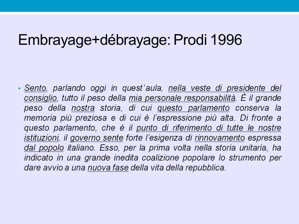 Embrayage+débrayage: Prodi 1996